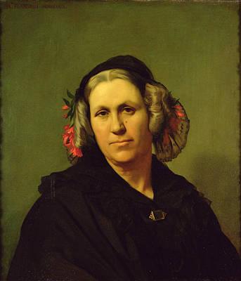 Madame Vinet, 1840 Oil On Canvas Print by Hippolyte Flandrin
