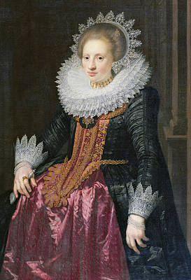 Madame Vrijdags Van Vollehoven Print by Jan Anthonisz van Ravestyn