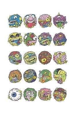 Madball Digital Art - Madballs - Ball Columns by Brand A