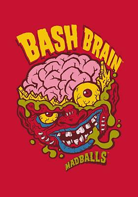 Madball Digital Art - Madballs - Bash Brain by Brand A
