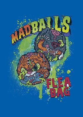Madball Digital Art - Madballs - Flea Bag by Brand A