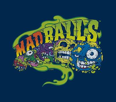 Madball Digital Art - Madballs - Mad Logo by Brand A
