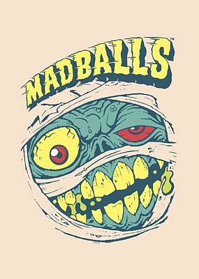 Madball Digital Art - Madballs - Mummy by Brand A