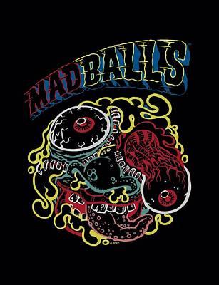 Madball Digital Art - Madballs - Outlines by Brand A