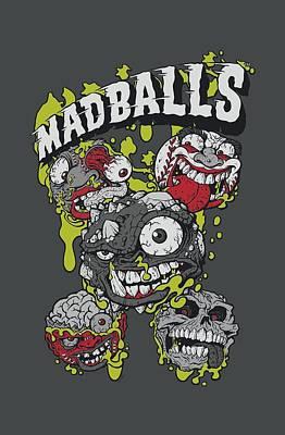 Madball Digital Art - Madballs - Slime Balls by Brand A