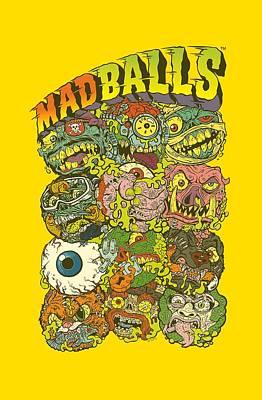 Madball Digital Art - Madballs - Stack Em by Brand A