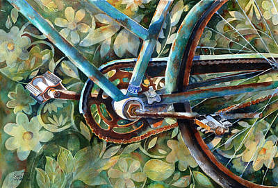 Bicycling Painting - Made In The Usa by Suzy Pal Powell