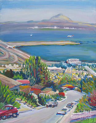 The Downtown Gallery Painting - Madera Blvd Sfo Mt. Diablo by Vanessa Hadady BFA MA
