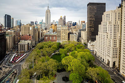 Madison Square Park Birds Eye View Print by Susan Candelario