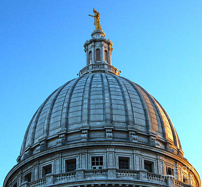 Madison Wisconsin Capitol Building - 03 Print by Gregory Dyer