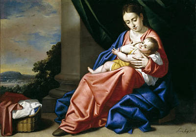 Aria Painting - Madonna And Child by Antonio Fernandez Arias