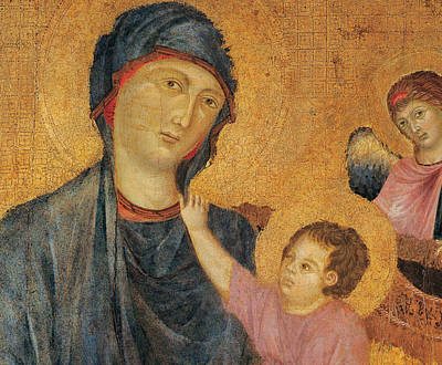 Madonna And Child Enthroned  Print by Cimabue