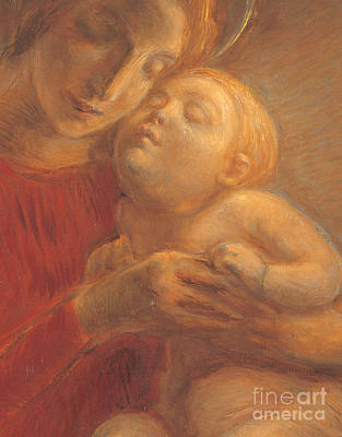 Holy Art Painting - Madonna And Child by Gaetano Previati