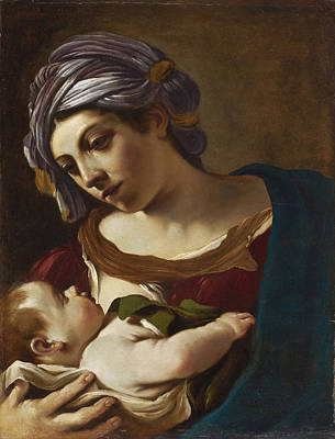 Guercino Painting - Madonna And Child by Guercino