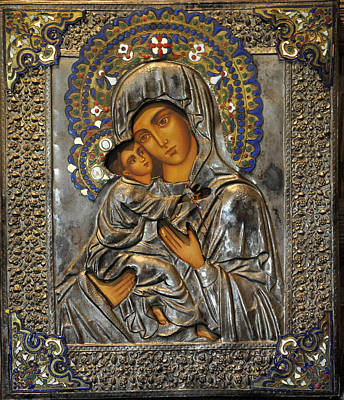 Russian Icon Photograph - Madonna And Child by Jay Milo