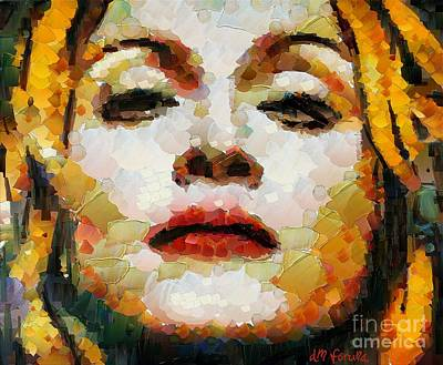 Madonna Print by Dragica  Micki Fortuna