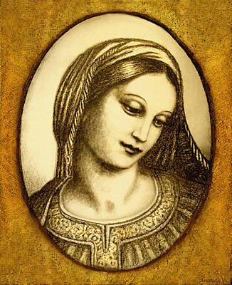 Madonna Face  Print by Ananda Vdovic