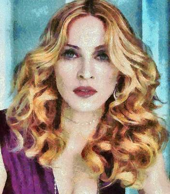 Madonna Digital Art - Madonna Falls And So Do I by Catherine Lott