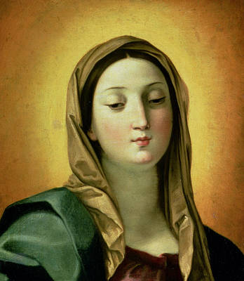 Blessed Mother Painting - Madonna by Guido Reni