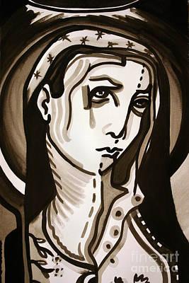 Madonna Print by Sandoval Maciel