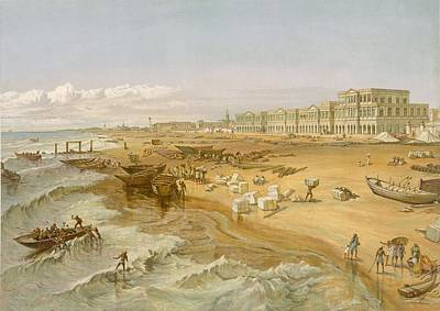 Coastal Drawing - Madras, From India Ancient And Modern by William 'Crimea' Simpson