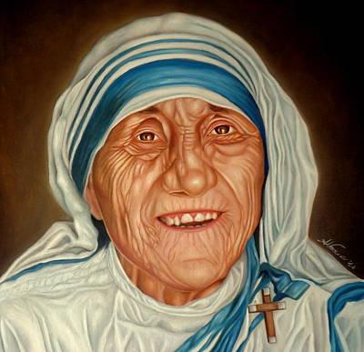 Religious Art Painting - Madre Teresa by Alessandra Veccia