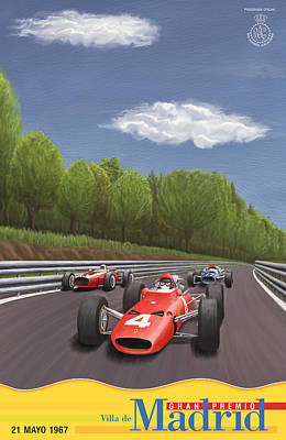 Icon Reproductions Digital Art - Madrid Grand Prix 1967 by Georgia Fowler