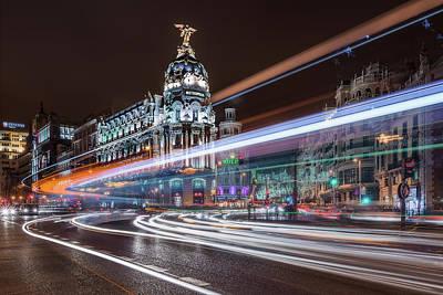 Madrid Traffic Print by Javier De La
