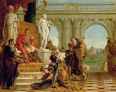 Liberal Painting - Maecenas Presenting The Liberal Arts To The Emperor Augustus by Giovanni Battista Tiepolo