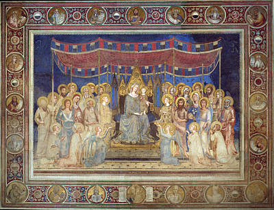 Simone Martini Painting - Maesta by Simone Martini