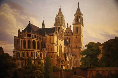 Carl Hasenpflug Painting - Magdeburg Cathedral by Carl Hasenpflug
