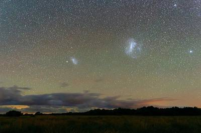 Magellanic Clouds Over The Pampas Print by Luis Argerich
