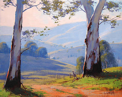 Eucalyptus Painting - Magestic Gums by Graham Gercken