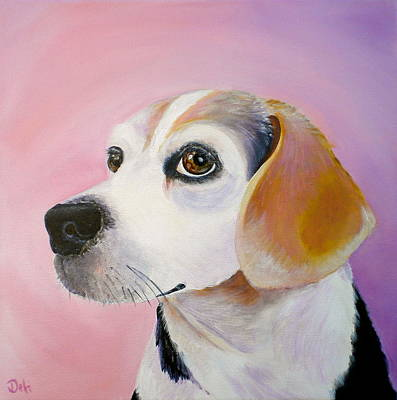 Puppy Dog Eyes Painting - Maggie by Debi Starr