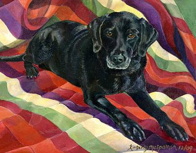 Paws Painting - Maggie Lennon by Kimberly McSparran