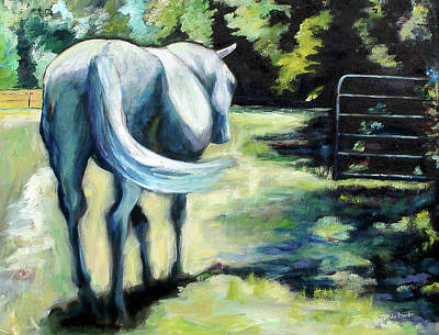 Maggie The Horse In The Pasture Print by Carol Jo Smidt