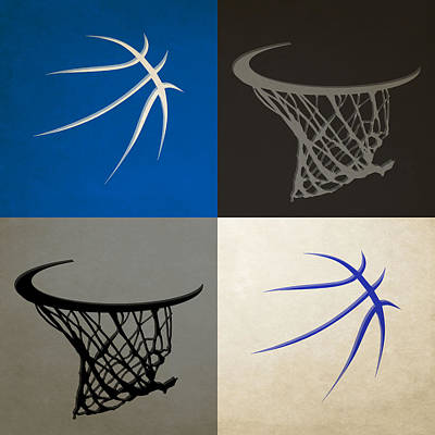 Orlando Magic Photograph - Magic Ball And Hoops by Joe Hamilton