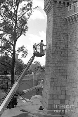 Cinderella Photograph - Magic Castle Disney World Florida Circa 1995 by Edward Fielding