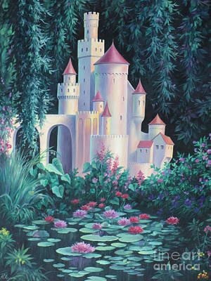 Lily Pond Painting - Magic Castle by Vivien Rhyan