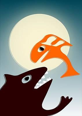 Magic Fish Print by Anastasiya Malakhova