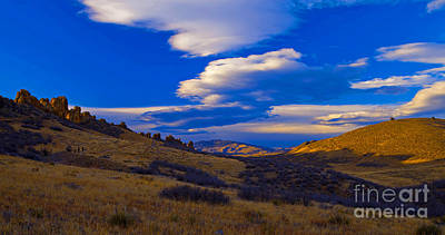 Devils Backbone Photograph - Magic Hour by Barbara Schultheis