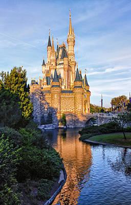 Magic Kingdom Castle Print by Bill Tiepelman