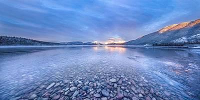 Magic Light // Lake Mcdonald, Glacier National Park Print by Nicholas Parker