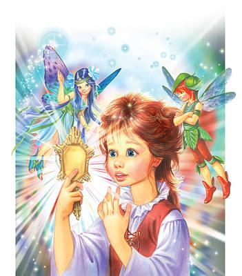 Magic Mirror Print by Zorina Baldescu