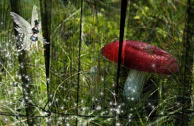 Magic Mushroom. Print by Nathan Wright
