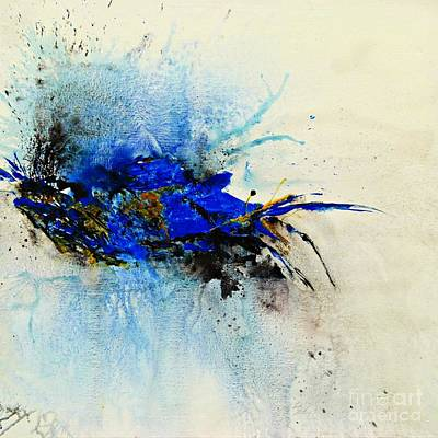 Magical Blue-abstract Art Print by Ismeta Gruenwald