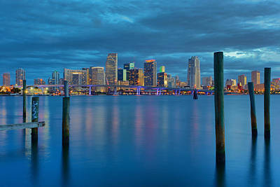 Photograph - Magical Blue Hour by Claudia Domenig