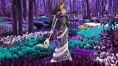 Magical Flower Garden Print by Marvin Blaine