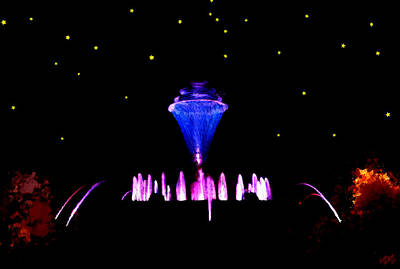 Magical Fountain Print by Bruce Nutting