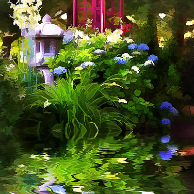 Magical Garden Print by Trudy Wilkerson